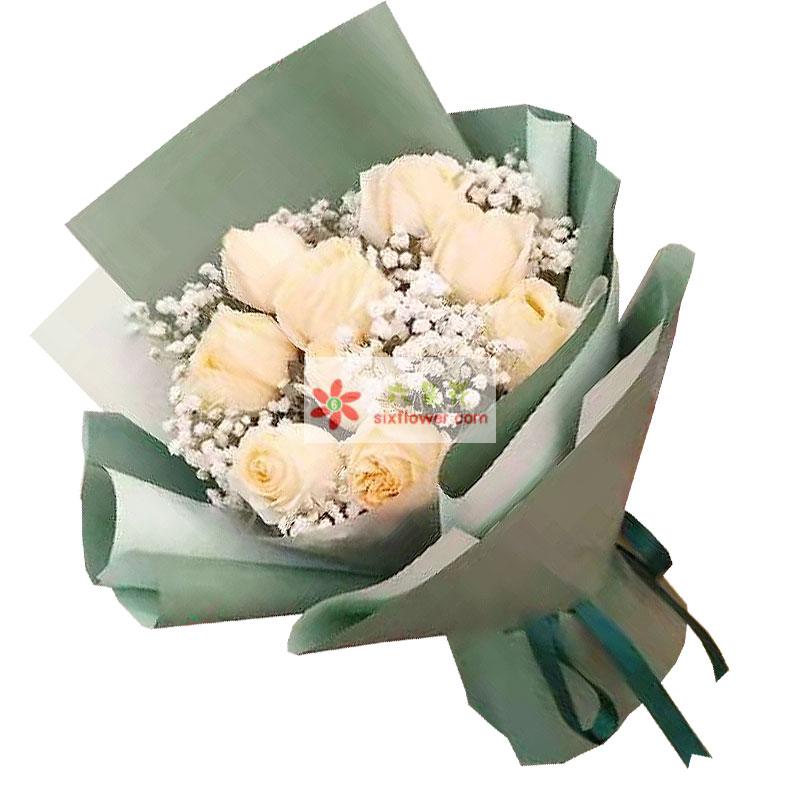 9朵香槟玫瑰,命中注定的爱人