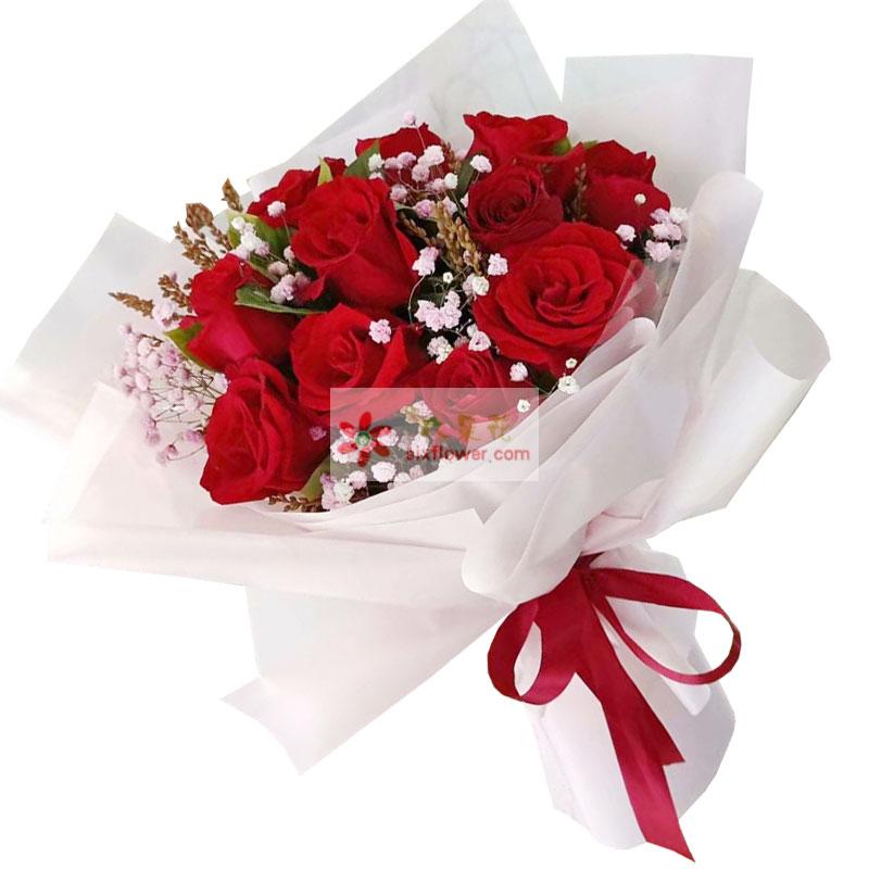 11朵红玫瑰,一生一世不分离