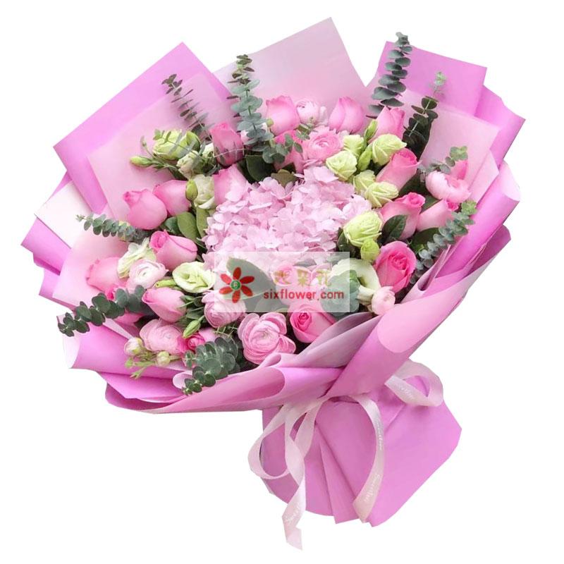 22朵戴安娜粉玫瑰,有你不在孤单
