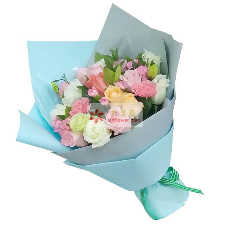 12朵玫瑰混搭,一辈子的幸福快乐