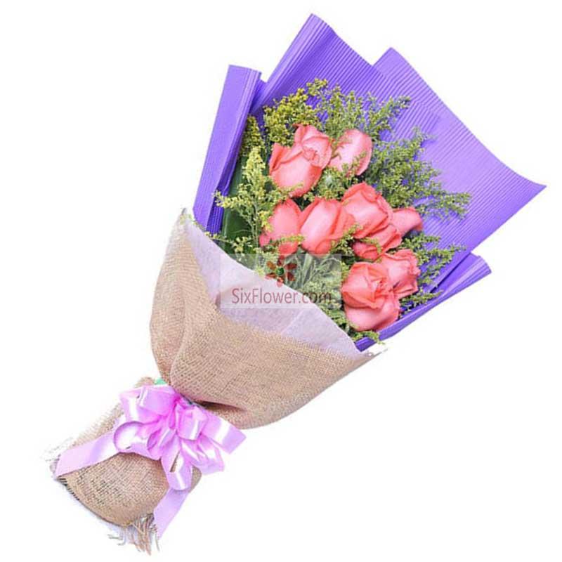 11朵粉玫瑰,爱的灵光