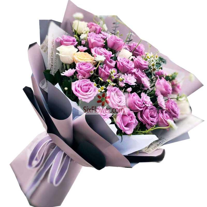 19朵紫玫瑰,我的心里一直有你