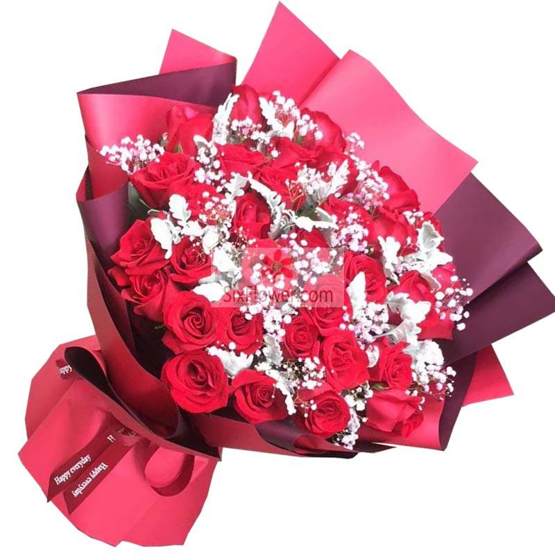 33朵红玫瑰,我的心里满满是你