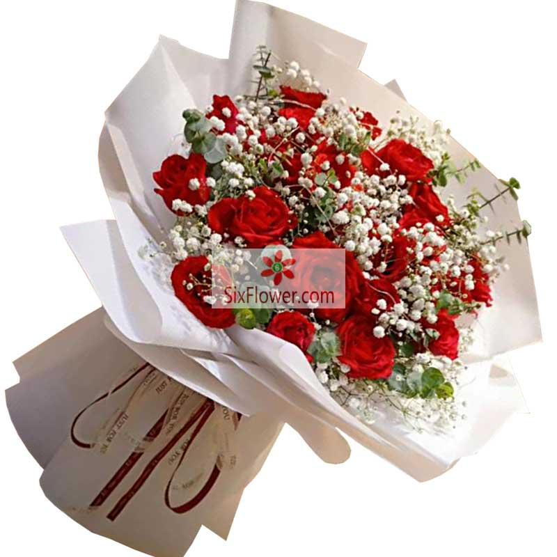 19朵红玫瑰,温暖的爱送给你