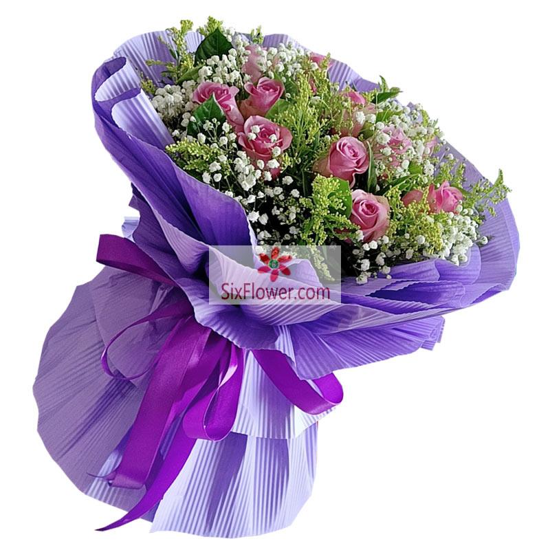 16朵紫玫瑰,永远恋着你