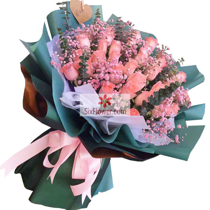 29朵戴安娜粉玫瑰,享那一世的温柔