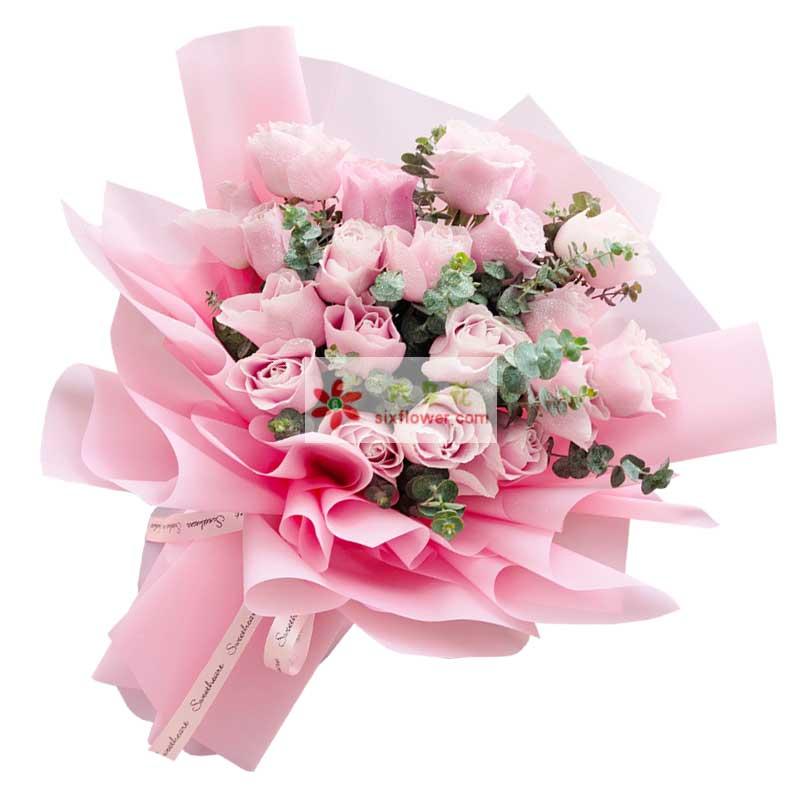 22朵戴安娜粉玫瑰,与你相见