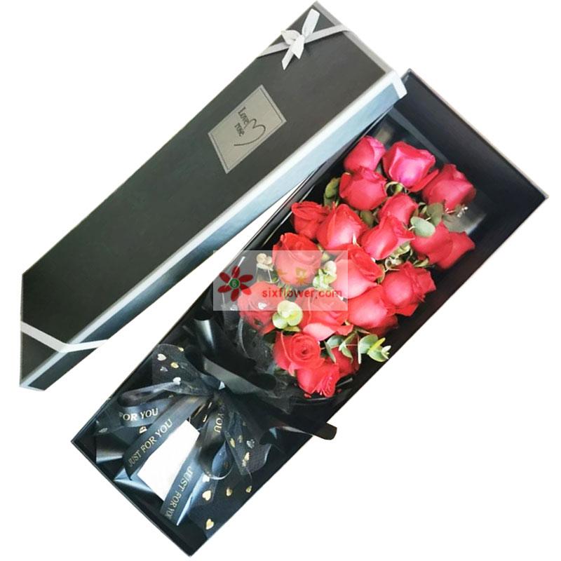 19朵红玫瑰礼盒,想说爱你