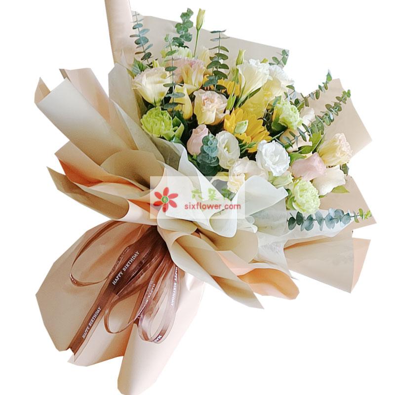 9朵戴安娜粉玫瑰,花缘香韵