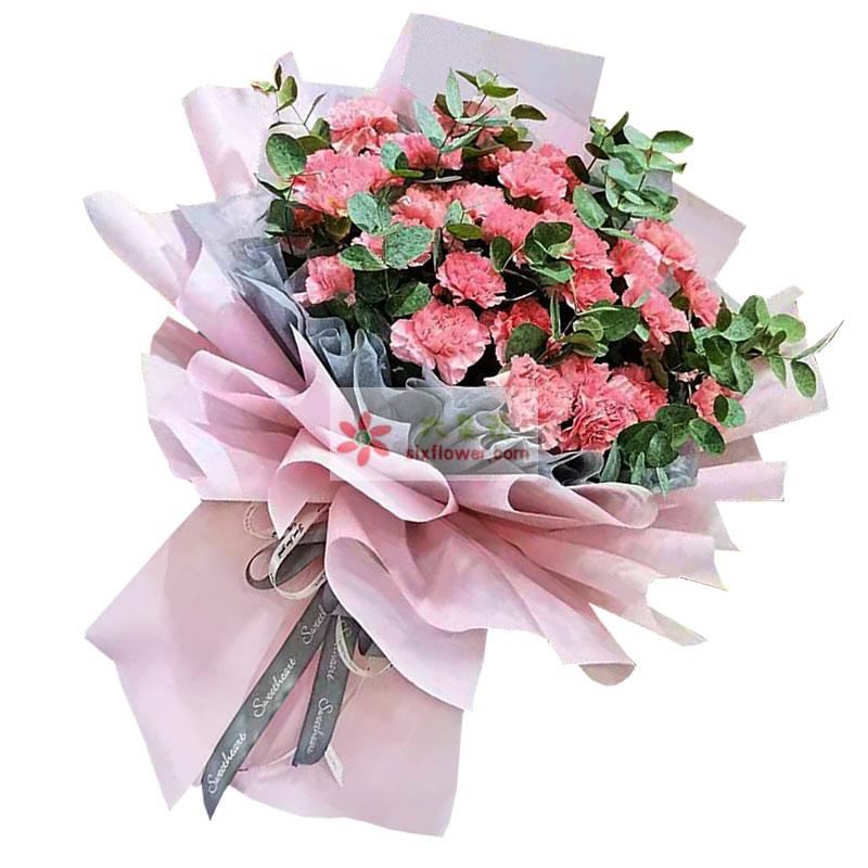33朵粉色康乃馨,念亲恩