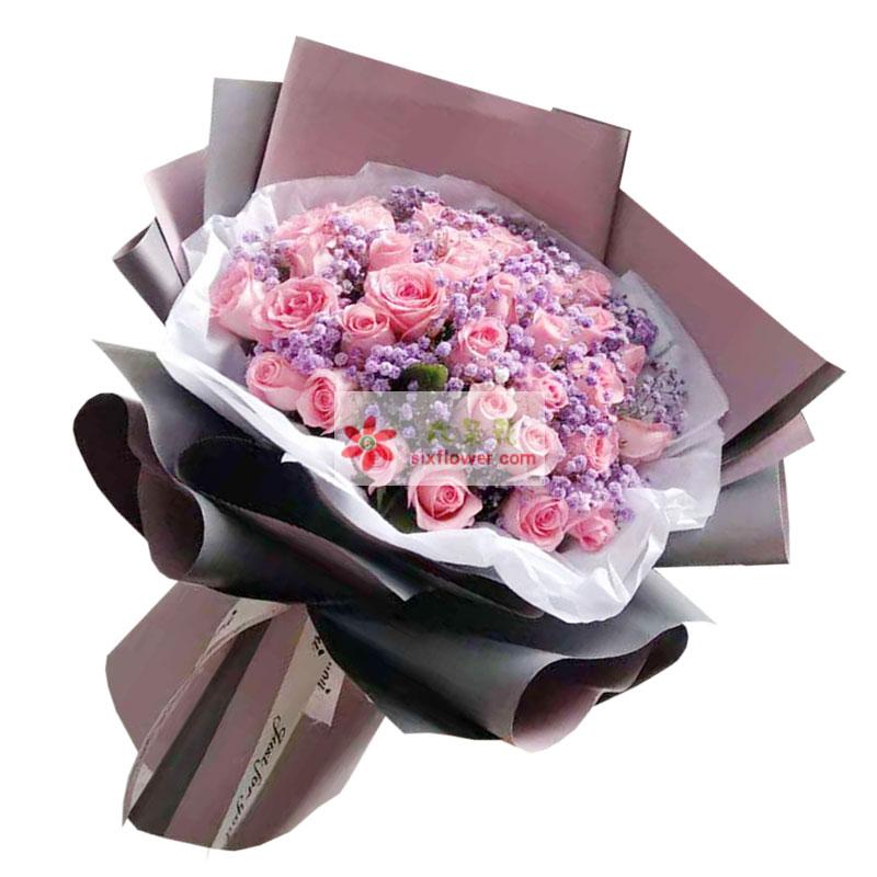 29朵戴安娜粉玫瑰,真实永远的爱