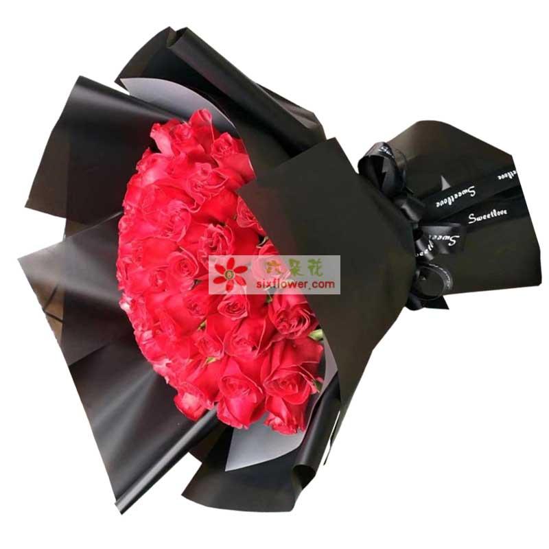 33枝红色玫瑰;
