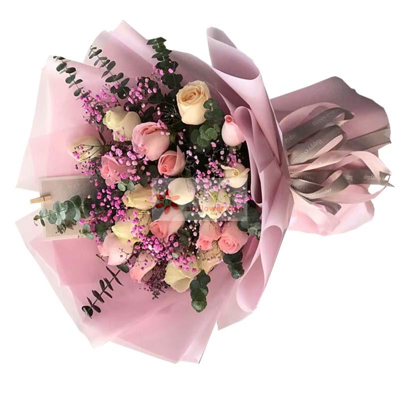 11朵红玫瑰花语_19朵玫瑰花,永恒的好心情 - 六朵花